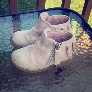 SALE rose gold sparkly girl's side-zip boots